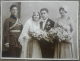 Fotografie ofiter la nunta// pe carton, Portrete, Romania 1900 - 1950