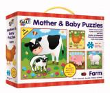 Set 4 puzzle-uri Mama si puiul-Ferma, Galt