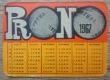 Calendar 1967// Reclama Pronosport