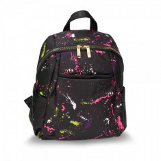 AG00614A - Black Splash Print Backpack School Bag