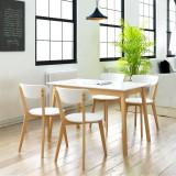 Set de bucătărie din MDF și lemn de mesteacăn, cinci piese