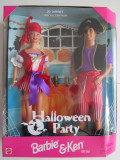 "Barbie $ Ken ""Halloween Party"" Doll-Papusa Gift-Cadou Set Special Edition - 1998"