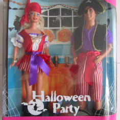 """Barbie $ Ken """"Halloween Party"""" Doll-Papusa Gift-Cadou Set Special Edition - 1998"""