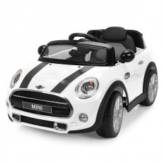 Masinuta electrica Chipolino Mini Cooper Hatch white, Alb