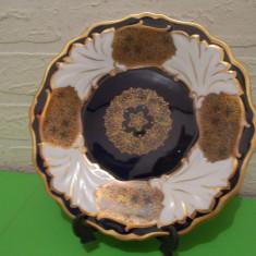 PORTELAN de colectie Echt WEIMAR  Kobalt seria JUTTA , farfurie decorata cu aur