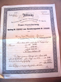 Polita de asigurare Alianz 1923