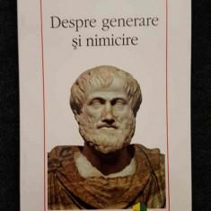Aristotel – Despre generare si nimicire