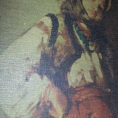 Tablou Grigorescu reproducere pe panza cu rama veche masiva ,T.GRATUIT, Portrete, Cerneala, Realism