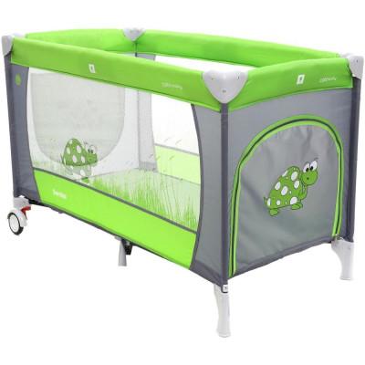 Patut Pliabil cu doua nivele Samba Plus - Coto Baby - Verde foto