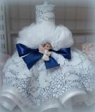 Lumanare de botez pentru fetite si baietei - BLEU2490
