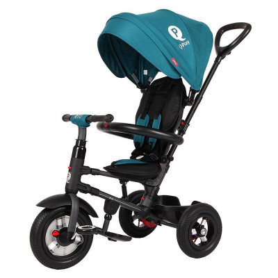 Tricicleta cu roti gonflabile de cauciuc Qplay Rito AIR Albastru Deschis foto