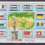 Ungaria 1977 Comisia Europeana Dunareana:Steaguri si vapoare, MNH, Nestampilat