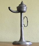 Lampa Biedemeier, foarte veche pe ulei de tip opait realizat din cositor, Lampi