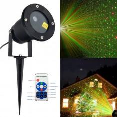 Proiector Laser Pentru Exterior, Rezistent La Apa Programabil Din Telecomanda