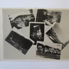Rara! Carte postala foto mozaic Brasov cu stampilata Budesti/Ilfov 1937