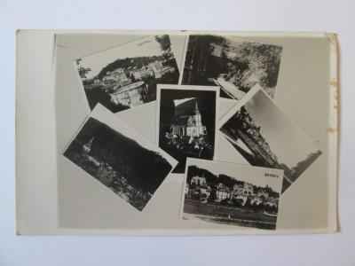Rara! Carte postala foto mozaic Brasov cu stampilata Budesti/Ilfov 1937 foto