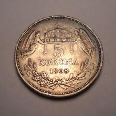Ungaria 5 Coroane Korona 1908