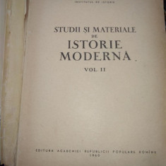 STUDII SI MATERIALE DE ISTORIE MODERNA , VOL II