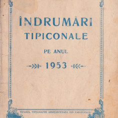 Îndrumări tipiconale 1953