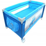 Patut Pliabil cu doua nivele Samba Plus - Coto Baby - Albastru, Coto Baby
