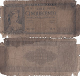 1947 (20 III), 500 lire (P-80a.1) - Italia