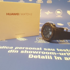 Smartwatch Huawei Watch 2 Android , Factura & Garantie MR, Aluminiu, Negru, Android Wear