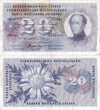 1968 (15 V), 20 franken/francs/franchi (P-46p.1) - Elveția