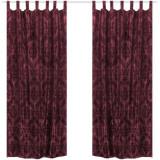 Draperii din tafta baroc cu bride 140 x 245 cm, roșu Burgundy, 2 buc
