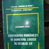 Contributii romanesti in domeniul logicii in secolul XX Alexandru Surdu