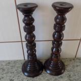 Pereche sfesnice antice lemn masiv