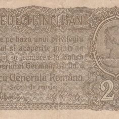 Romania  25 Bani  ND 1917  Ocupatia Germana  P-M1  F