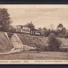 SIBIU  VIADUCT TRAMVAI  ELECTRIC  CIRCULATA  1912, Printata