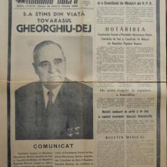 Ziarul Romania Libera , 20 Martie 1965 ; Moartea lui Gheorghe Gheorghiu Dej