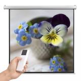 Ecran proiector electric, telecomandă, 160x160 cm 1:1