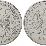Germania moneda 10 euro 2013 Cu-Ni UNC in capsula - Heinrich Hertz, Europa, Cupru-Nichel