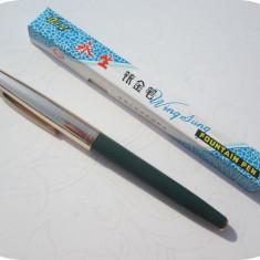 Stilou Wing Sung 612_negru_vintage anii 80