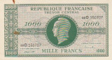 Franta 1000 Francs   ND 1945  P-107  aUNC- some rust