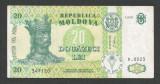 MOLDOVA  20  LEI  1999   [1]   P-13d  ,  XF++