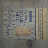 "RECLAMA PERIOADA COMUNISTA DIN ANUL 1966 SOBA METALICA EMAILATA ""SUPER 2"""