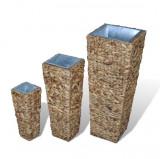 Set suport ghiveci din ratan și zambilă de apă
