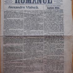 Ziarul Romanul , 1 Noiembrie 1919 , Arad , Alexandru Vlahuta