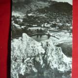 Ilustrata Slanic Prahova - Vedere de la Grota - RPR cca. 1965, Necirculata, Fotografie