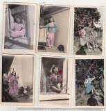 bnk foto - Lot 6 fotografii interbelice colorizate - portrete