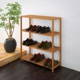 Pantofar din lemn solid de nuc, 69 x 26 x 81 cm