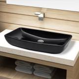 Chiuveta baie din ceramică, dreptunghiular, negru