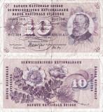 1968 (15 V), 10 franken/francs/franchi (P-45n.2) - Elveția