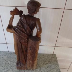 SCULPTURA LEMN MASIV- PIESA RARA DE COLECTIE APPOLO SEC XIX