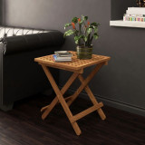 Măsuță pliantă lemn masiv de nuc 50 x 50 x 49 cm negru
