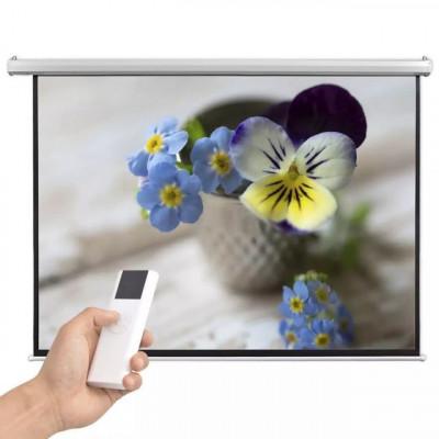 Ecran proiector electric cu telecomandă 200x153 cm 4:3 foto