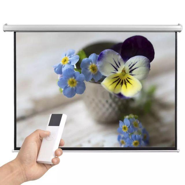 Ecran proiector electric cu telecomandă 200x153 cm 4:3